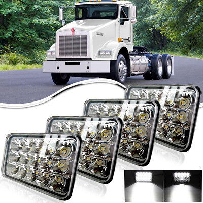 "4pc 4X6"" 45W Sealed LED Headlight For Chevrolet Kodiak C4500 C5500 2003-2009"