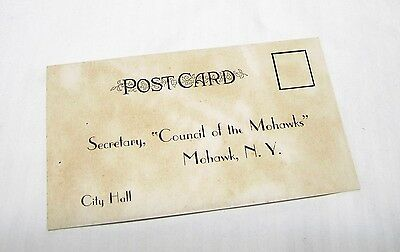 1936 Council of the Mohawks Home Coming New York Registration Post Card - Unused