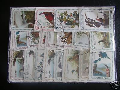 Stamps Birds : 25 Stamps All Different Of Haiti / Birds Stamps