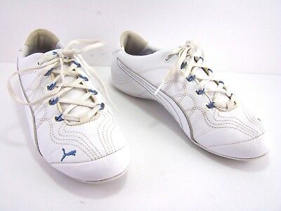 520792485cd8 PUMA Soleil v2 Athletic Shoes White Blue Leather Lace Up Womens Size US 8.5