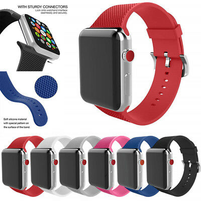 Replacement Silicone Sport Watch Band Strap For iWatch Apple Watch Series 4/3/2