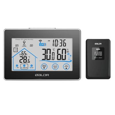 Temperature Humidity Thermometer Big Display Wireless Digital Weather Station