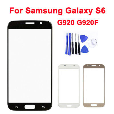 Original Front Outer Touch Screen Replacement Glass Lens over Fr Samsung S6 G920