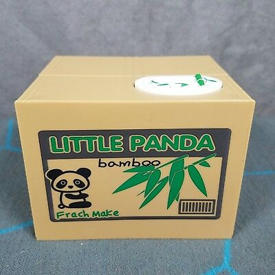 Little Panda Bamboo Grabbing  Money Bank Electronic