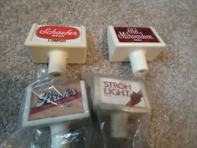 4 Antique Beer Tap Handles Man Cave Huge Sale Read Desc Schaefer Old Mil Strohs