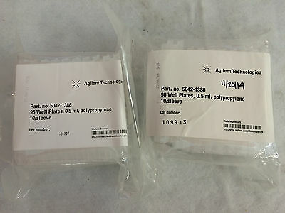 Lot of 2 Sleeves of 10 Agilent Tech. 5042-1386 96-Well 0.5ml Plates