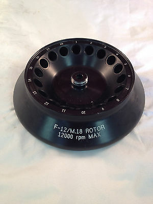 Sorvall Dupont Autoclavable 121 Degrees C F-12/M.18 Rotor 12000 RPM Max