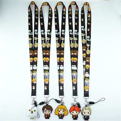 Harry Potter Lanyard Neck Strap Charms Cell Phone Rope KeyChain Key ring Gift S