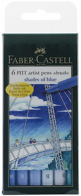 Faber Castell Pitt Artist Pens Shades Colors 2 Sets of Markers Brush Tip ink
