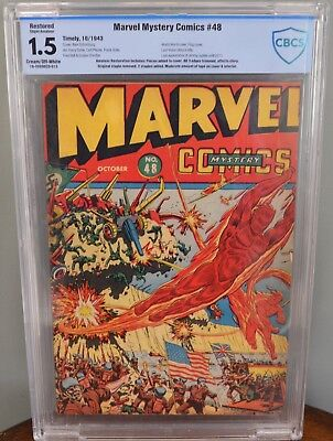 Cbcs 1.5 Restored Marvel Mystery Comics #48 (Timely, 1943) Last Vision. Wwii.