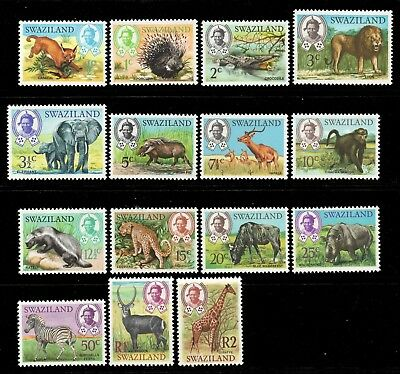 Swaziland 1969 QEII Animals SG 161-175 mint