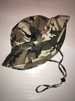 Camoflauge Bucket Hat Fishing Camping Nature Mens Size O/S