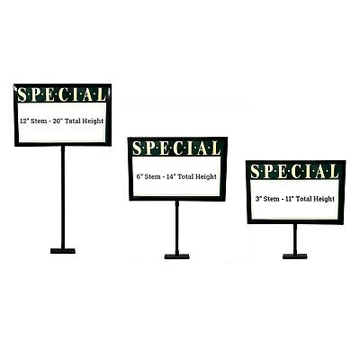 "Retail Rack Black Frame Magnetic Base Sign Holder, 7"" x 11"" - Wholesale"