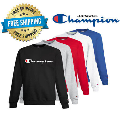 add2b56b CHAMPION MENS CLASSIC Script Logo ECO Hoodie---Brand New---S-2XL ...