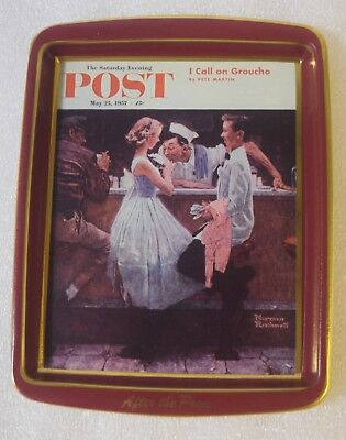 Saturday Evening Post Norman Rockwell After The Prom I Call On Groucho Tin Tray