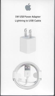Original Wall AC Charger Adapter USB Cube 5W and cable For Apple Iphone with box