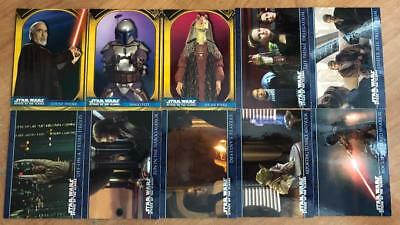 Star Wars AOTC Cards INCOMPLETE BASE SET 20/100 Topps 2002 Attack of the Clones