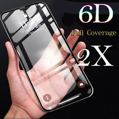 2X 6D Curved 9H Tempered Glass Screen Protector Skin for Apple iPhone XS Max XR