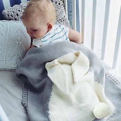 Baby Rabbit Blanket Swaddle Wrap Toddler Bedding Towel Wool Cute Portable Soft