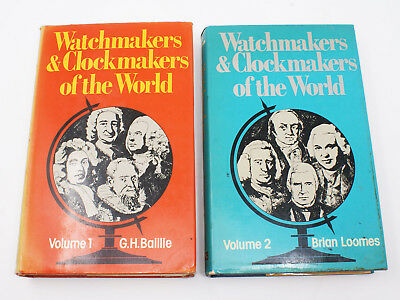 Horology Books WATCHMAKERS & CLOCKMAKERS OF THE WORLD 1976 Vol. 1 & 2 1st Ed.