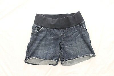 Liz lange Maternity For Target XS Jean Shorts Stretch waist band comfortable str