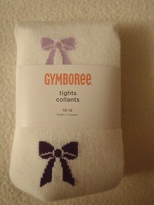 Gymboree Purple & Red Bow Tights Size 10-12 NWT