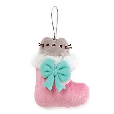 Gund Pusheen NEW * 5-Inch Stocking Ornament * Christmas Plush Cat Toy Kitten