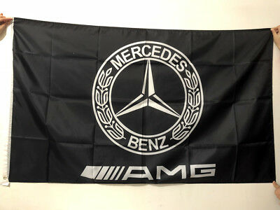 Black Mercedes Benz AMG Flag For Racing AMG Car Banner Flags 3X5Ft Polyester/095