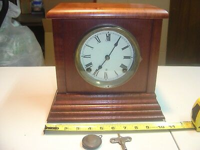Antique Sessions Mantle Clock Good Working Condition, Maybe Replacement Movement