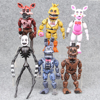 6PCS Five Nights At Freddy's FNAF Bunnie Game Action Figure Doll Toys No Box