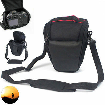 Portable Black Triangle Digital Lens Shoulder Carry Case Bag For DSLR SLR Camera