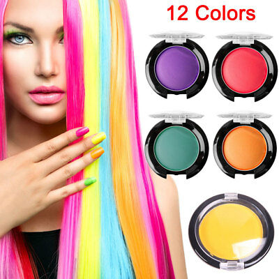 12 Colors Unisex DIY Hair Color Wax Mud Dye Cream Temporary Modeling