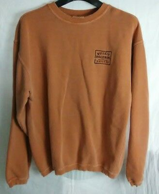 Mens Xl Bulleit Bourbon Frontier Whiskey Sweatshirt Pigment Dyed Made In Russia