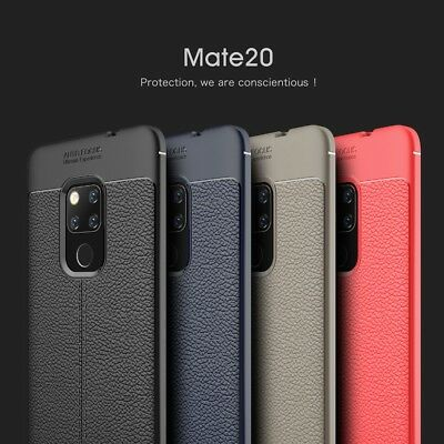 Luxury Soft TPU Silicone Bumper Leather Case Cover For Huawei Mate 20 Pro Lite