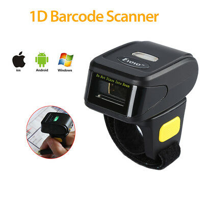 1D Ring BT4.0 Mini Pocket Scanner Finger Barcode Scan Reader For Android iOS Win