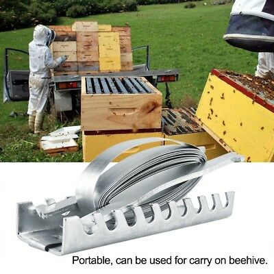 Beehive Strapping with 5 Meters Fastener Metal Hive Down Strap Beekeeping Tools