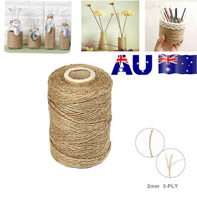 3Ply 100m Natural Brown Soft Jute Rope Twine Sisal String For Art Gift Bottle OD