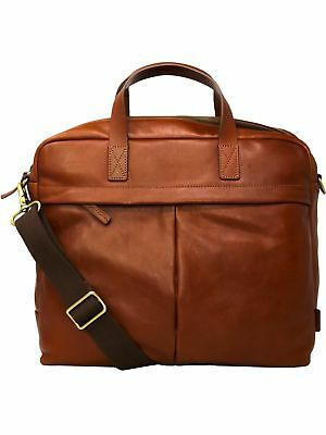 c3088943f05e FOSSIL BUCKNER WORKBAG Leather Messenger Bag -  151.38