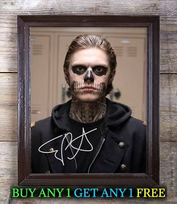 Evan Peters American Horror Story SIGNED 10X8 REPRO PHOTO PRINT