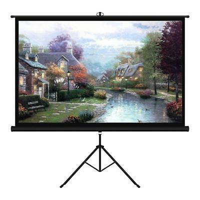 100 Inch 16:9 Projector Screen with Stand Portable Indoor Outdoor Pull Up Tripod