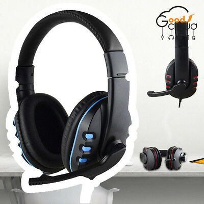 3.5mm Gaming Headset Stereo Surround Headphone /Mic For PS3 PS4 Xbox ONE 360