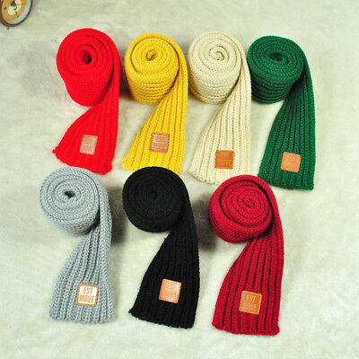 Fashion Children Knitted Scarf Thicken Winter Warm Kids Boys Girls Neck Scarves