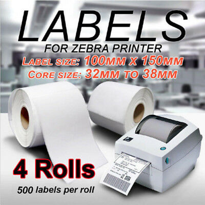 4 x 500pcs Thermal Direct Label 100 X 150mm Fastway EParcel Startrack Zebra SATO