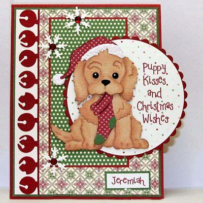 Xmas Dog Metal Cutting Dies Cards Scrapbooking Die Stamp DIY Scrapbooking Card