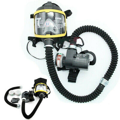 Electric Full Face Gas Mask Respirator System Constant Flow Supplied Air Fed UK