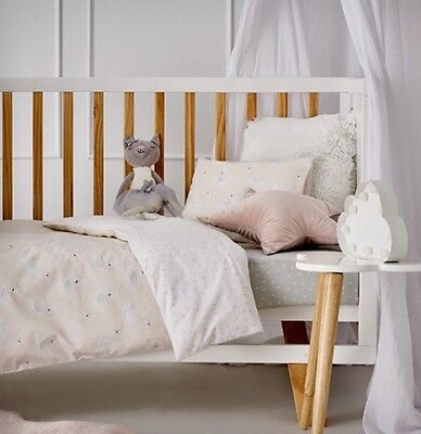 Brand new Adairs Kids SWAN DREAM Cot Quilt Cover Set RRP $100
