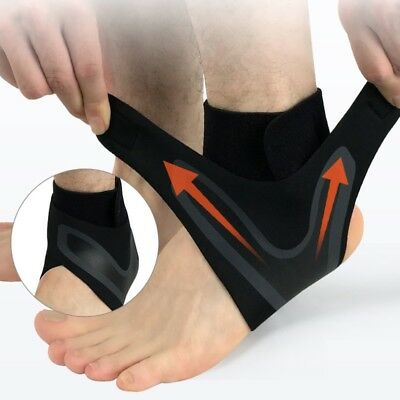 Ankle Brace Foot Sprain Support Bandage Achilles Strap Guard Fitness Protector