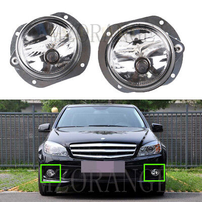 2X Front Bumper Round Fog Light For Mercedes C Class W204 AMG Saloon 2007-2011