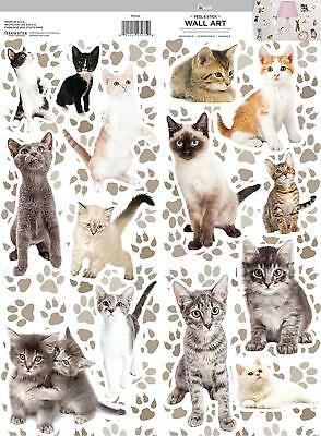 CATS MEOW 14 Wall Decals Room Decor Stickers Kittens Kitty Decorations Kids