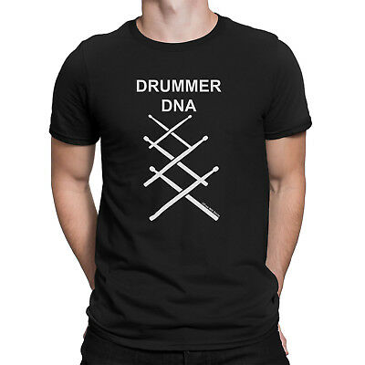 Mens DRUMMER DNA Drum Sticks Drumming Music T-Shirt Instrument Novelty